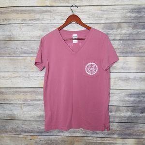 PINK Victoria's Secret V-Neck Tee T-Shirt Spellout